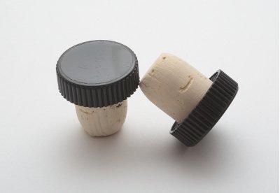 TAPPO SUGHERO TESTA PLASTICA COLORE NERO DIAM. 19 MM X 1 PZ T0144